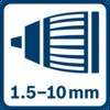 หัวจับ Auto-Lock 1.5 - 10.0 มม.
