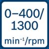 ความเร็วขณะเดินเครื่องเปล่า 0 - 400/0 - 1300 นาที-1/รอบต่อนาที