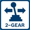 ให้แรงบิดสูงสำหรับการขันสกรูและให้ความเร็วสูงสำหรับการเจาะ ด้วยชุดเฟืองเกียร์แพลเน็ตทารี่แบบปรับความเร็วได้ 2 ระดับ