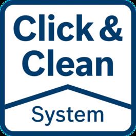 ระบบ Click & Clean – คุณประโยชน์ที่ดีเยี่ยม 3 ประการ มองเห็นพื้นผิวการทำงานชัดเจน: ทำงานได้แม่นยำและรวดเร็วยิ่งขึ้น คัดแยกฝุ่นอันตรายได้ทันที: ปกป้องสุขภาพของคุณ ฝุ่นน้อย: ยืดอายุการใช้งานของเครื่องมือและอุปกรณ์เสริม