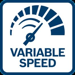 ควบคุมความเร็วในการหมุนได้อย่างเที่ยงตรงและง่ายดาย ด้วยความเร็วแบบปรับได้