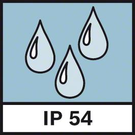 ระดับการปกป้อง IP54 ระดับการป้องกันฝุ่นขนาดเล็กและละอองฝนหรือหยดน้ำเม็ดใหญ่ IP54
