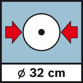 GWM 32 เส้นผ่าศูนย์กลาง 32 ซม. เส้นผ่าศูนย์กลางล้อ 32 ซม.
