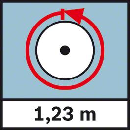 GWM 40 ระยะวัด 1.23 ม. เส้นรอบวง 1.23 ม.