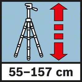 ความสูงในการทำงาน 55-157 ซม. ความสูงในการทำงานตั้งแต่ 55 ถึง 157 ซม.