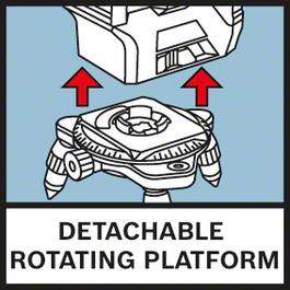 ฐานหมุนแบบถอดได้ ขาตั้งแบบสามขาหมุนได้ขนาดเล็กช่วยให้การปรับตำแหน่งละเอียดทำได้ง่ายยิ่งขึ้น