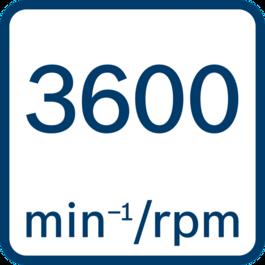 ความเร็วขณะเดินเครื่องเปล่า 3600 นาที-1/รอบต่อนาที
