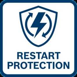 ระบบป้องกันการเริ่มทำงาน ป้องกันไม่ให้เครื่องมือเริ่มทำงานโดยอัตโนมัติหลังจากตัดไฟ