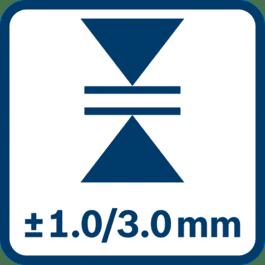 ความแม่นยำของการวัด ± 1.0/3.0 มม.