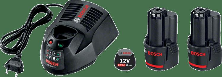 ชุดอุปกรณ์เริ่มต้น 2 x GBA 12V 2.0Ah + GAL 1230 CV Professional